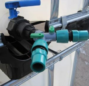 60 x 6mm IBC Adaptor & Two-Way Valve With Hoselock Fitting